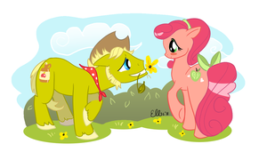 Apple Courtship by EllisArts