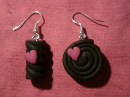 Earring with Haribo fimo by bimbalove81