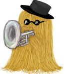 Cousin It plays the Mellophone by musicsuperspaz