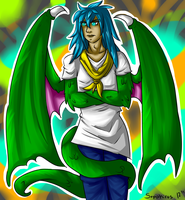 Dragon Boy Ryu +Art Trade+ EDITED by iSapphirus