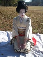 Geisha Bowing 1 by themuseslibrary