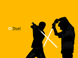 iDuel -with light sabers- by djnjpendragon