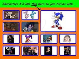 Characters I'd Like Sonic the Hedgehog to Join For by cameron33268110