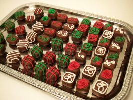 """Christmas """"Chocolate"""" Magnets by FlyingFrogCreations"""