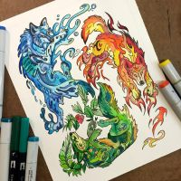 310- Elemental Wolves by Lucky978
