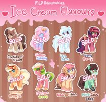 Pony Adoptables (Ice Cream Flavours) - CLOSED by tsurime