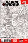 Black Widow tentacles sketch cover pencils by gb2k