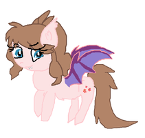 Batty pony.art trade by cottoncloudyfilly