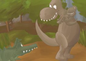 Trex is mad by sorryface