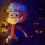 Dipper in the Woods by BizarreAdventures