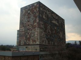 UNAM Biblioteca Central, CU by MexEmperorRamsesII