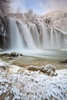 Frozen waterfalls by Febo-theRealOne