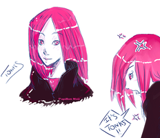 Tonks _Sketches_ by Papillon-Nwuar
