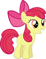 Excited Applebloom by MoongazePonies