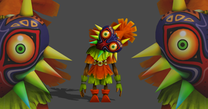 Legend of zelda - Skull kid XPS only by Saskeni