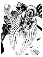 THE VULTURE - 9x12 - inks by RONJOSEPH-ARTIST