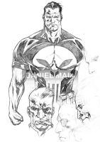The Punisher MAX 2004 pen by daniel-maia