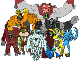 another set of ben 10 aliens by bigafroman