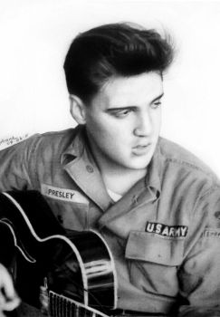 Elvis in Army by FrankGo