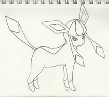 Glaceon - WIP by yunafan92