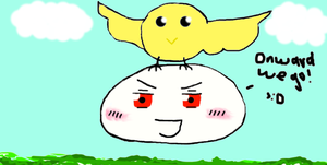 Flying Gilbird and Prussia!! :D by Shuru10