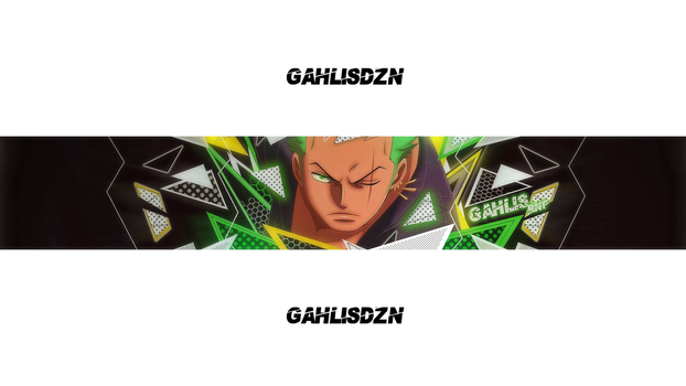 Banner Roronoa Zorro Experience by Gahlis by Gahlis