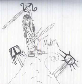 Miakaylia with swords... by e-Link