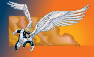 X-Men Angel by MarcBourcier