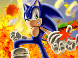 Sonic Autumn in LOST WORLD by KTy-cat