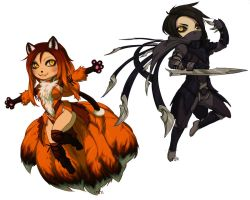 custom ahri and talon by irahi