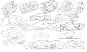 041410 Super Car Sketches by Dannychhang
