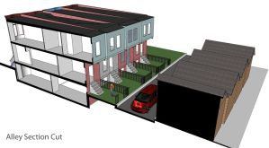 Shepherdstown Annex - Alley Perspective Section by Nayias01