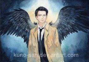 Fanart: Castiel from Supernatural by Kuno-san