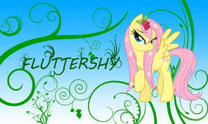 Wet Fluttershy wallpaper by zibags