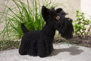 Scottish terrier amigurumi by Soggy-Wolfie