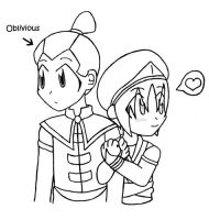Season 3 Toph and Sokka by mokomel