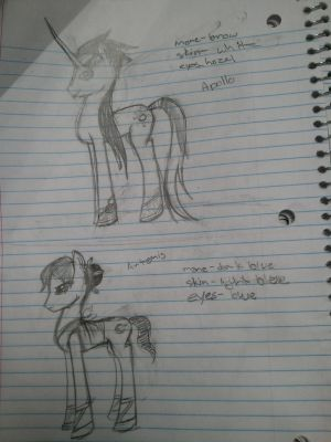Apollo and Artemis -Pony forms-