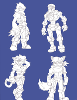 Star Fox Practice sketches by NickinAmerica