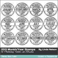 Photoshop Vector Brushes 2013 Memories Stamps by pixelberrypie