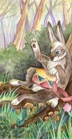 Hare with a drum by Taski-Guru