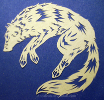Papercutting: Wolf by Ancaleon