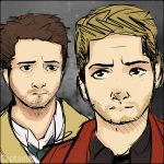 Dean and Castiel by CaptaineJu