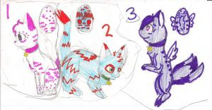 Three free adoptables CLOSED by Perry--Agent