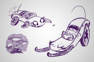 Car Sketches by phychoticsilence