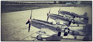 P-51s at Duxford by VisualPurple