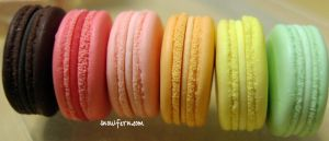 1 4 macarons side view by Snowfern