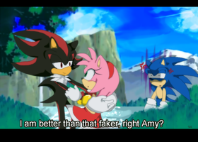 Sonic is... jealous? -fake anime screenshot- by koda-soda