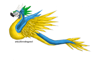 Parrot Amphithere by Ilovedragons1