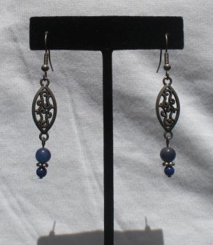 Blue Lace Earrings by cvtarver