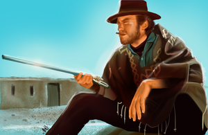 Clint Eastwood by MRedRaccoon